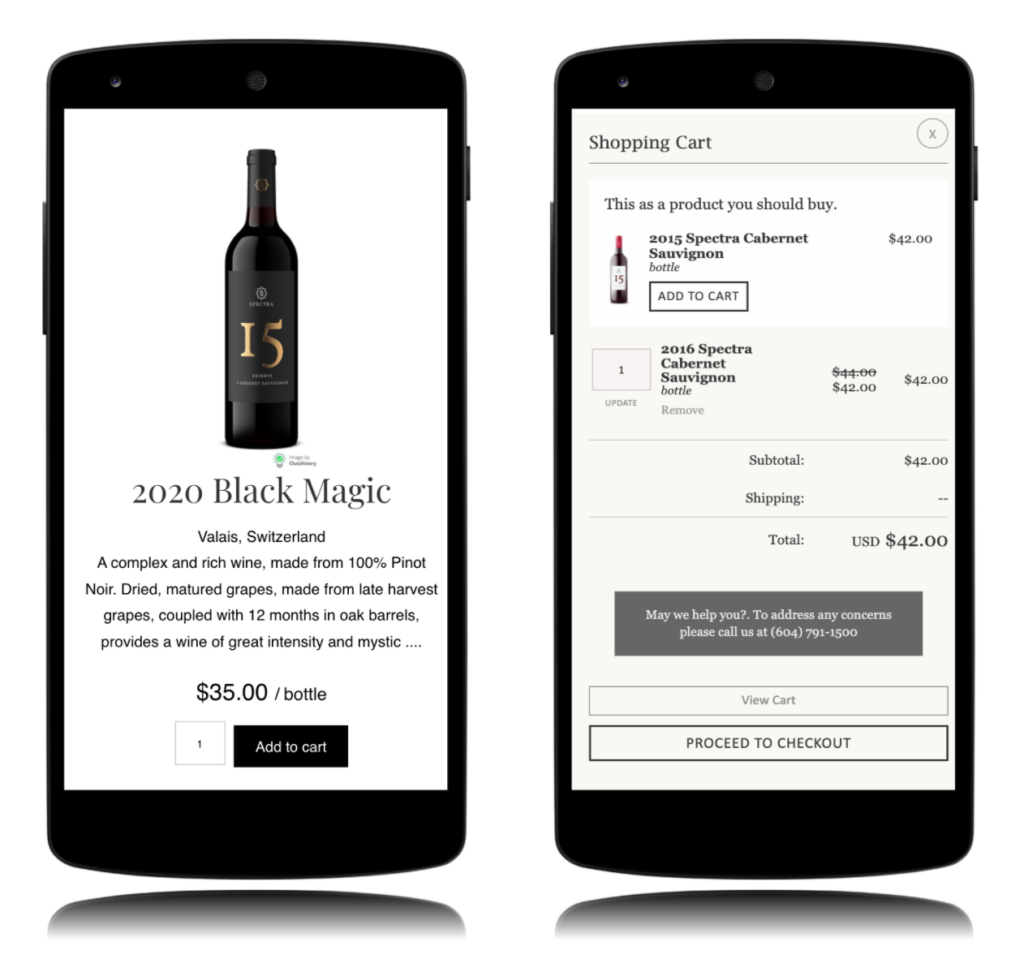 mCommerce for wineries